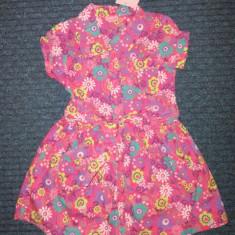 Noua! Rochita roz cu flori, marca Cherokee, fetite 3-4 ani/ 104 cm, Culoare: Multicolor