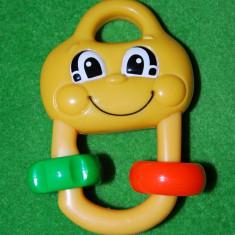 Jucarie pentru bebelusi (bebe), din plastic de calitate, marca Fisher Price, Mattel 2002, 12 cm - Jucarie zornaitoare
