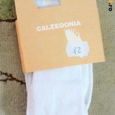Noi! Ciorapi lungi strampi albi de bumbac, marca Calzedonia, fete 12-18 luni - Ciorapi Copii