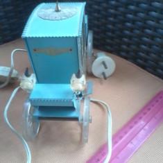 Bnk div - Veioza vintage - caleasca - functionabila - Tabla cu plastic