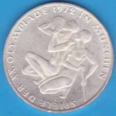 (2) MONEDA DIN ARGINT GERMANIA - 10 MARK 1972-LIT. G-OLIMPIADA DE LA MUNCHEN, Europa
