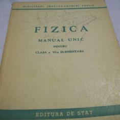 Fizica-manual unic-cl. a-VI-a elementara-1950 - Manual auto
