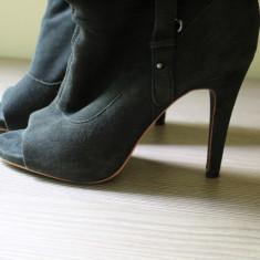 Botine dama - Botine piele naturala peep toe Zara