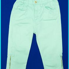 DE FIRMA _ Pantaloni 3/4, bumbac, talie reglabilă, H&M _ fetite | 4 - 5 ani, Culoare: Aqua, Fete
