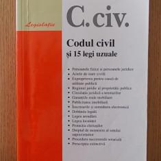 Carte juridica - CODUL CIVIL SI 15 LEGI UZUALE