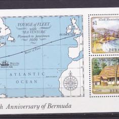 Navigatie, harti, corabii, Bermuda. - Timbre straine, Nestampilat