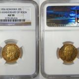 Monede Romania, An: 1906 - Romania aur 20 Lei 1906 NGC AU 58 Superba! Piesa de colectie !