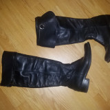 cizme de piele lungi peste genunchi