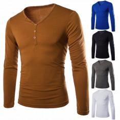 Bluza barbati - Bluza Helanca, model gen ZARA bumbac, maro-galben, barbateasca model deosebit, NOU