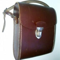 Etui din piele pentru binoclu, fabricat in Germania, anii '60