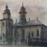 Tablou, Religie, Acuarela, Realism - Acuarela 5 - Vasilescu Laurentiu
