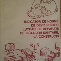 Carti Constructii - Indicator De Norme De Deviz Pentru Lucrari De Reparatii De In - Necunoscut, 152344