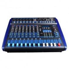 MIXER AMPLIFICAT 8 CANALE, 800 WATT PUTERE, MP3 PLAYER, AFISAJ, EFECTE VOCE DSP. - Mixer audio