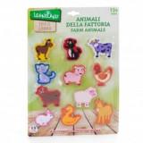 Figurina Animale - Animale domestice ferma din lemn