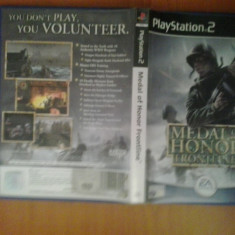Jocuri PS2, Shooting, 12+, Multiplayer - Medal of Honor Frontline - JOC PS2 Playstation ( GameLand)