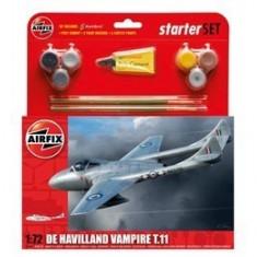 Kit constructie si pictura avion De Havilland Vampire T11 - Jocuri Seturi constructie Airfix