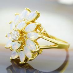 Inel placate cu aur - Inel Placat cu Aur 18k, cu Zirconiu, cod 816