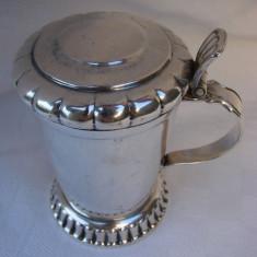 Impresionant pahar suedez argintat si aurit, semnat NILS JOHAN, anii 1930, Pahare