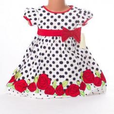 Haine dama - Rochita de fetite cu trandafiri rosii - BBN1091