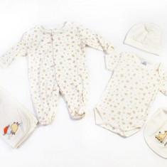 Haine copii - Set hainute 5 piese pentru bebelusi Free animals