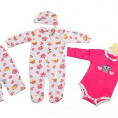 Haine Copii 0 - 6 luni - Set hainute bebelusi 4 piese - BBN1194