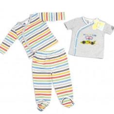 Haine copii - Set hainute in dungulite 3 piese pentru bebelusi