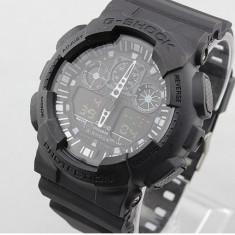CASIO G-Shock GA 100, All Black - Ceas barbatesc