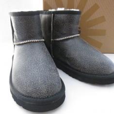 UGG AUSTRALIA CLASSIC MINI black - 100% PIELE - Cizme barbati, Marime: 39, 40, 41, 42, 43, Culoare: Negru