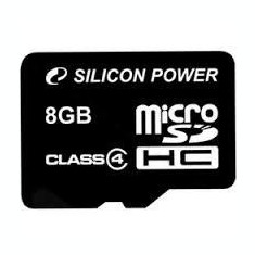 SILICON POWER MICRO SDHC 8GB CL4 WITHOUT ADAPTER