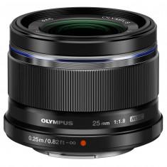 Olympus M.ZUIKO DIGITAL 25mm 1:1.8 / ES-M2518 black - Obiectiv DSLR