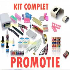 KIT MANICHIURA SET Unghii false BeautyUkCosmetics GEL UV, Lampa uv Pila, Electrica Aspirator Praf