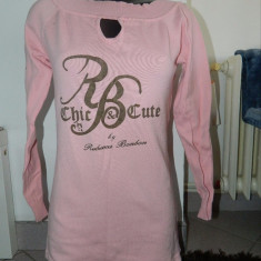 Rochie, bluza lunga colanti, Rebeca Bonbon, marimea XL. COMANDA MINIMA 30 LEI! - Bluza dama, Culoare: Roz, Maneca lunga, Universala, Bumbac