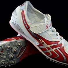 Adidasi cu crampoane pentru alergat Salta alb cu rosu - Adidasi barbati
