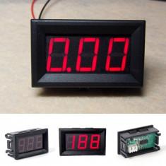 Afisaj voltmetru ( auto ) digital DC culoare LED ROSU, nou !
