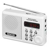 Sencor Aparat radio SRD215W, portabil, 2 W , USB, Micro SD, alb