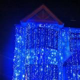 Instalatie electrica Craciun - Perdea de lumini pentru exterior 800 LED lumina albastru