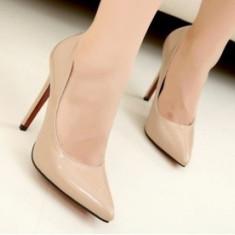 Pantofi dama - CH2237-15 Pantofi stiletto din lac cu toc inalt