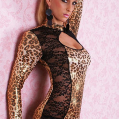 Costum Halloween - W85 Salopeta lunga animal print