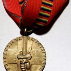 Medalii Romania, An: 1941 - ROMANIA MEDALIE Cruciada Impotriva Comunismului - detalii superbe, calitate **