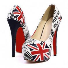 Pantofi dama - CH2349 Pantofi cu platforma si toc inalt, model UK