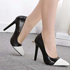 Pantofi dama - CH2319-1122 Pantofi office cu toc inalt si varf ascutit