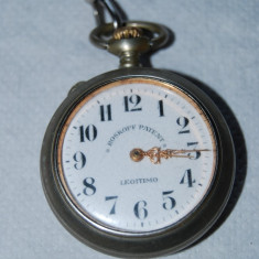 Ceas de buzunar barbatesc marca ROSKOPF PATENT vechi