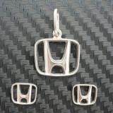 Set Honda (medalion + o pereche de cercei) din argint. NOU! - Set bijuterii argint