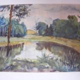 Tablou, Marine, Acuarela, Impresionism - Acuarela semnata Elena Popea