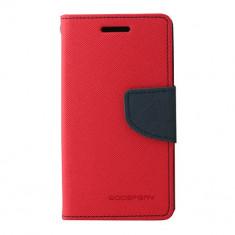 Husa Telefon Atlas, Rosu, Textil, Toc - Toc My-Fancy Samsung Galaxy Trend Lite2/Ace NXT Rosu/Albastru