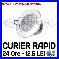 SPOT LED INCASTRABIL - 7W EPISTAR - ECHIVALENT 55W - ALB RECE SAU CALD ZDM