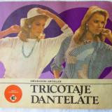 "Carte design vestimentar - ""TRICOTAJE DANTELATE"", Smaranda Sburlan, 1987. Album CALEIDOSCOP"