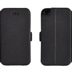 Husa Samsung Galaxy Trend 2 Lite G318 Flip Case Slim Inchidere Magnetica Black, Negru, Piele Ecologica, Toc, Cu clapeta