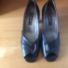 Pantofi dama piele Gabor masura 35 1/2 - Pantof dama, Marime: 35.5, Culoare: Negru, Piele naturala