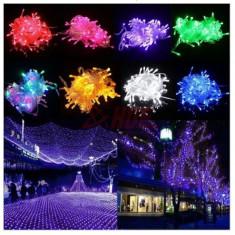 Instalatie 100 led multicolore, lungime 10 m si controller de jocuri luminoase - Instalatie electrica Craciun